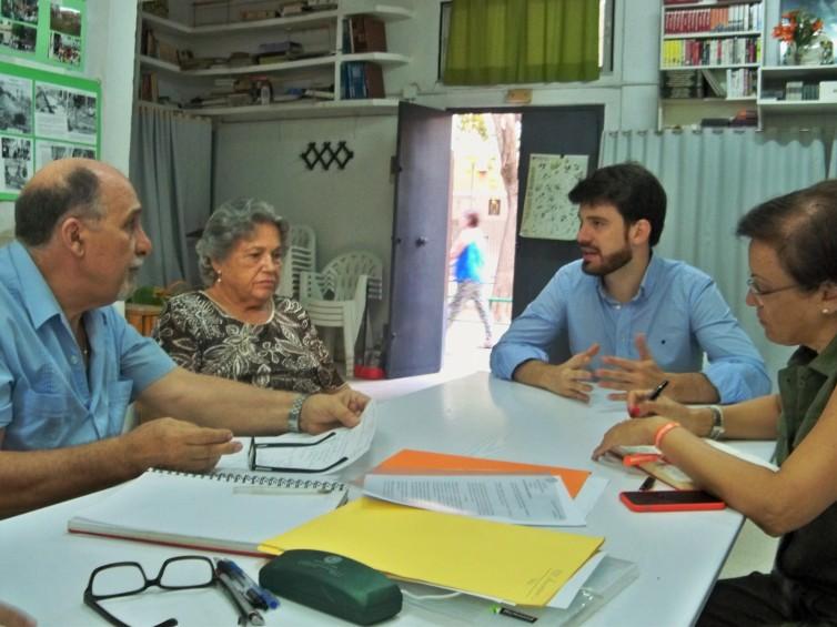 Visita a nuestra sede social del concejal de Ciudadanos F. Javier Moyano.