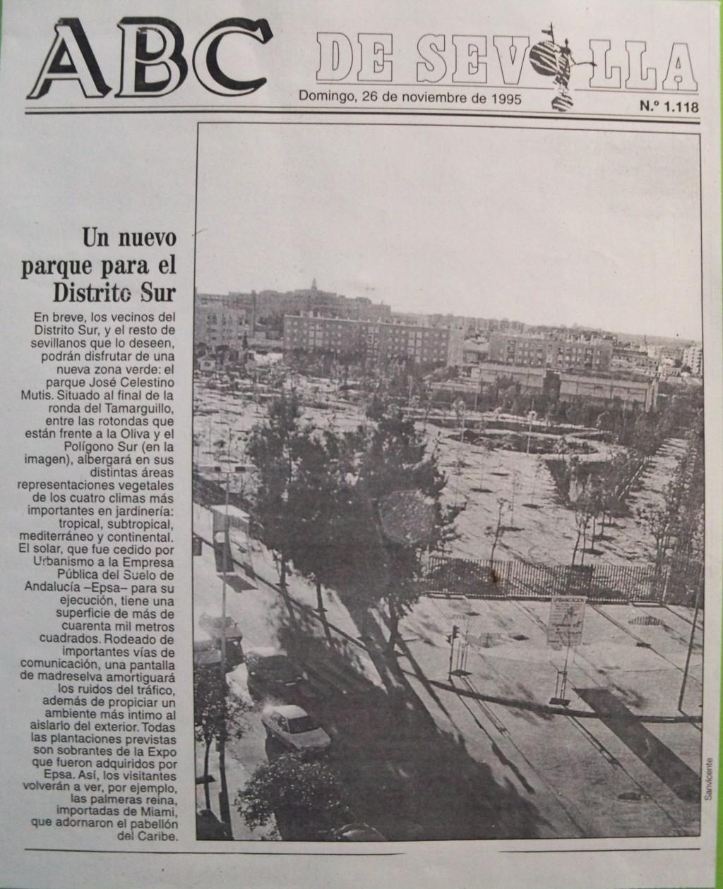 La prensa recoge la inauguración del parque el día 19 de junio de 1997