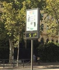 La temperatura que alcanzó Sevilla en los primeros días del mes de septiembre.