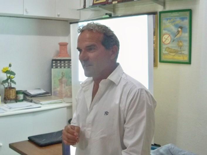 Ricardo Librero López, arquitecto paisajista. en nuestra sede social.