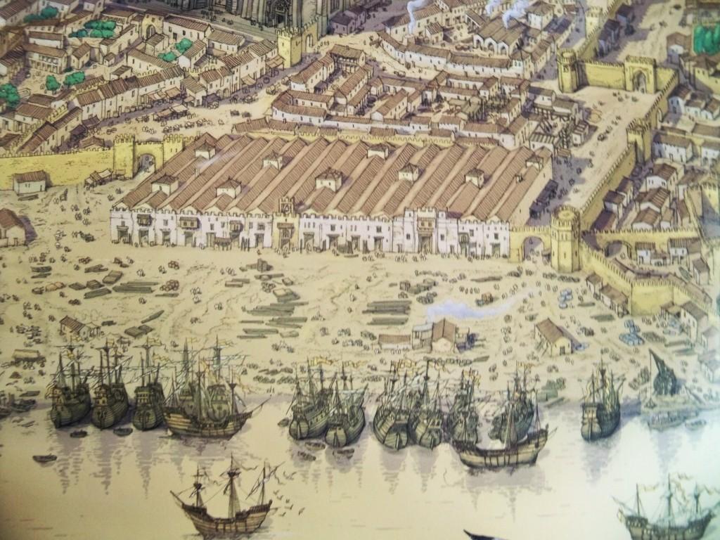 Las Atarazanas de Sevilla en un plano del siglo XVI