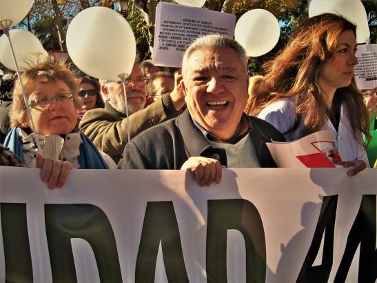 Pepe Baena, el líder ciudadano que ha convocado.