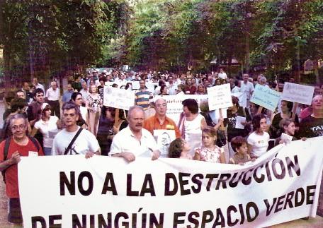 Nosotros defendemos los parques y jardines de Sevilla
