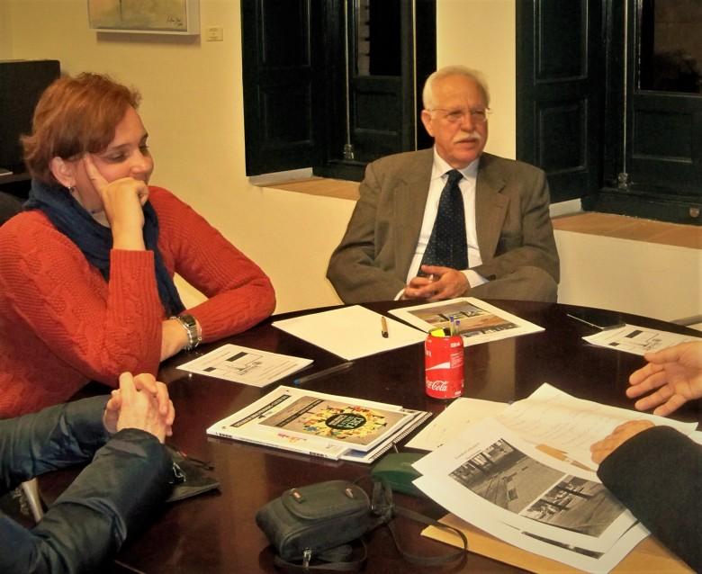 El Delegado del Distrito Sur y la Directora General en la reunión del día 30 de enero de 2017